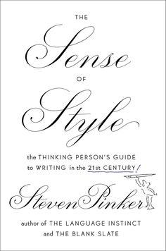 The book cover from The Sense of Style by Steven Pinker.