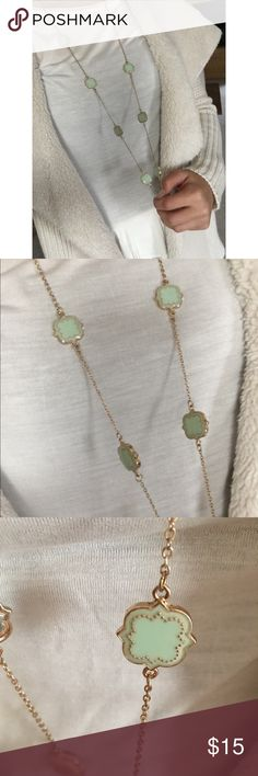 Long mint green necklace Beautiful, only worn a handful of times. 19' from top to bottom Francesca's Collections Jewelry Necklaces