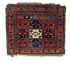 """the Collection of Mark Hopkins. 2'8"""" x 2'3"""" (81 cm x 69 cm) Publication: Oriental Rugs from Atlantic Collections, pl. 311."""