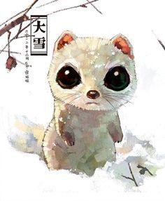 網路上睜著一雙大眼耍萌的小動物總是深得你心嗎?中國插畫組合雪娃娃進行「每日一塗」企劃,以溫暖細膩的筆觸重現動物的可愛模樣,更賜給牠們一對