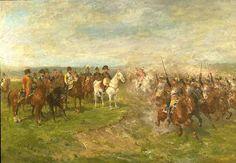 Cuirassiers français pendant la bataille de Wagram