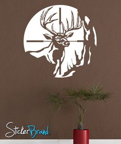 Vinyl Wall Decal Deer Scope Hunting    GFoster105s by Stickerbrand, $29.95