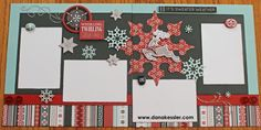 Snowhaven Winter Snow Scrapbook Layout Pages #ctmh #scraptabulousdesigns #cricutexplore