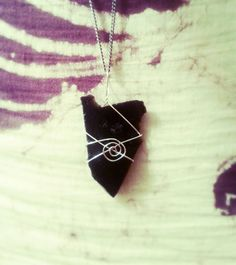 Black Obsidian pendant, wards off negativity- 10°/· Donated to Save the Bees!