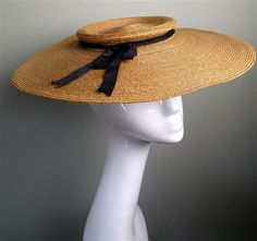 Large summer straw hat | Prudence Millinery