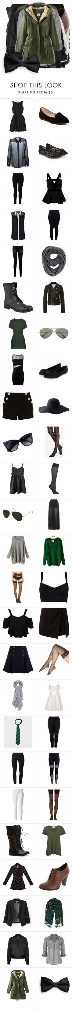"""Rose Potter"" by demiwitch-of-mischief ❤ liked on Polyvore featuring labworks, ALDO, Yves Saint Laurent, Accessorize, Barbara I Gongini, Boohoo, Armani Jeans, Paige Denim, Paula Bianco and Band of Outsiders"