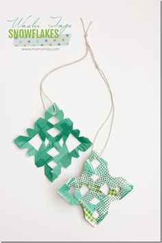 Grab some colorful washi tape and paper to make these Washi Tape Snowflakes – the best part - just like a snowflake – no two are alike! Easy Crafts For Kids, Crafts To Do, Creative Crafts, Arts And Crafts, Winter Activities For Kids, Christmas Activities, Preschool Christmas, Christmas Time, Christmas Ideas