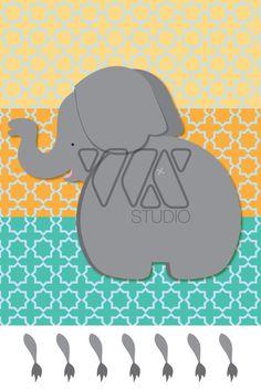 Pin the Tail on the Elephant  Animal Safari Theme by WXSTUDIO