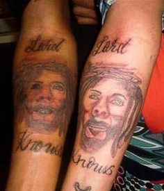 Bad Jesus Lard Knows Religious Tattoos Worst Tattoos Bad Tattoos Stupid People Funny Nasty Awful Horrible Terrible WTF Epic Fails dude Funny Tattoos Fails, Tattoo Fails, I Tattoo, Horrible Tattoos, Weird Tattoos, Cool Tattoos, Really Bad Tattoos, Stupid People Funny, Bad Tattoos
