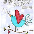 Emily Dickinson quote with an adorable bird!
