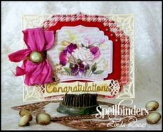 Spellbinders Tuesday Video Tutorial by @Lovely Linda  Nestabilities, Special Ocassions, Celebration, DIY, Handmade card, Craft
