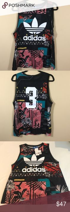 """Adidas Multicolor Soccer Sleeveless T Shirt Adidas Multicolor Soccer Sleeveless T Shirt., Size M. New with tags. Approximately 25"""" long Adidas Tops"""