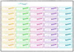 Stickers pretagliati idratazione, water tracker