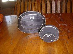 Spiders - Wood Craft  Halloween