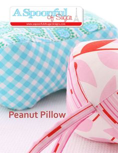 Make colourful peanut pillows with this new PDF sewing pattern from A Spoonful of Sugar. A brightly coloured peanut pillow is perfect to Sewing Hacks, Sewing Crafts, Sewing Projects, Sewing Ideas, Diy Projects, Sewing Kit, Sewing Tutorials, Elephant Pillow, Raw Edge Applique