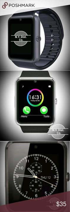 Smart Watch Android Bluetooth Smart Watch, Touch Screen, Adjustable  Rubber Watch Band, NWT. New Yorke Distribution Company Accessories Watches