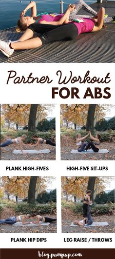 """pumpupapp: """" Try this No-Gym Partner Workout For Your Abs You don't need a gym to get strong, together. Grab your partner, do work, repeat. Learn more """""""