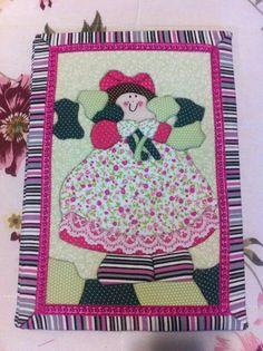Caderno patchwork embutido