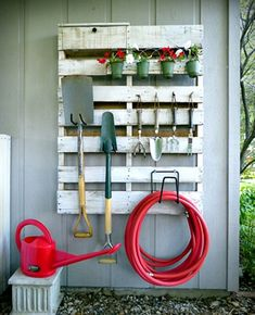 recup palette outils de jardin