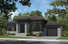 facade bungalow contemporain - Recherche Google Bungalow, Front Entrances, Exterior Design, Exterior Homes, Country Estate, Ranch Style, First Home, Living Room Designs, Living Rooms