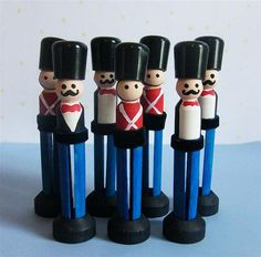 Clothespin Wooden Soldiers  -- adaptable to a simpler version for swaps