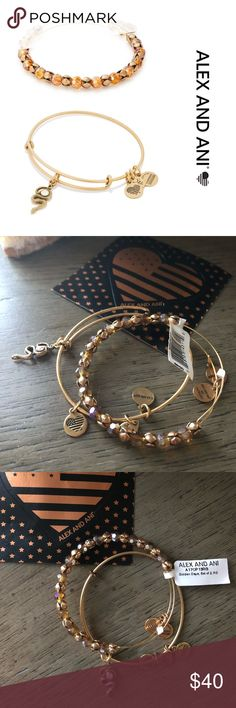 """Alex and Ani Set of 2 - NWT """"Path of Symbols"""" Snake Charm bracelet: Wholeness • Transmutation • Path Like the Snake, we transform with each and every decision we make. The serpent sheds old skin for new, teaching you to be bold and embrace the changes that will transform you into exactly who you wish to be. Learning the serpent's way of transmutation, we can turn negative into positive. When you reinvent yourself, a beautiful destiny will follow.  Adorned with a Swarovski Crystal.  Comes…"""