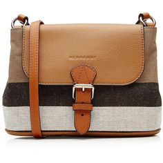 Burberry Shoes & Accessories Canvas Messenger Bag (1,790 SAR) ❤ liked on Polyvore featuring bags, messenger bags, purses, sacs, accessories, brown, canvas bag, brown messenger bag, canvas courier bag and courier bag