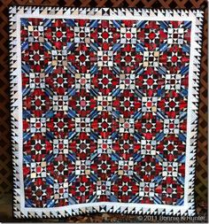 I will make this pattern one day. It was a mystery quilt by Bonnie Hunter at Quiltville's Quips and Snips.