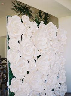 Ivory rose wedding decor: http://www.stylemepretty.com/little-black-book-blog/2017/03/28/elegant-glamorous-al-fresco-california-wedding/ Photography: Sposto - http://spostophotography.com/