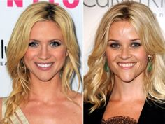 Celebrity Look Alike: Brittany Snow and Reese Witherspoon