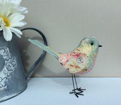 Fabric Bird  soft sculpture bird Sarah Hardaker fabric by MadebyDiOsman on Etsy https://www.etsy.com/listing/288484103/fabric-bird-soft-sculpture-bird-sarah