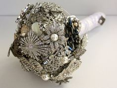 Brooch Bouquet Classic by baublesandbrides on Etsy