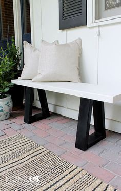 West Elm Knock-off Bench Tutorial
