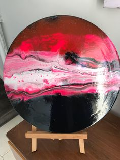 A personal favourite from my Etsy shop https://www.etsy.com/au/listing/545164196/fluid-acrylic-round-canvas-painting