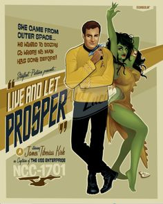 Fashion and Action: Happy 46th Star Trek! - Art Poster Gallery-A-Go-Go