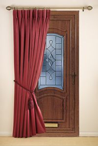 door curtains for warmth and energy savings