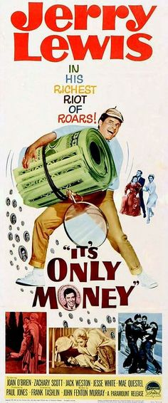 """I'ts only money""  by Frank Tashlin (1962) #Jerry Lewis"
