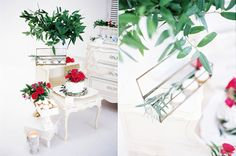 Destination wedding, Sweet table, olive branches, Santorini, cakes and meringues