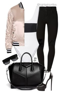 """""""Sporty Chic"""" by highfashionfiles ❤ liked on Polyvore featuring (+) PEOPLE, Beth Richards, Givenchy, CÉLINE, Roberto Cavalli, Topshop, polyvorecommunity, polyvoreeditorial and polyvorefashion"""