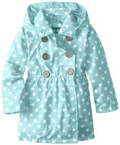 Amazon.com: Pink Platinum Little Girls' Polka Dot Trench Jacket: Clothing