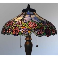 Tiffany Style Stained Glass Table Lamp VL508