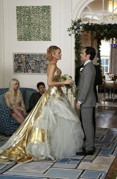 Serena and Dan's wedding on the Gossip Girl finale proves that even a simple at-home wedding can be glamorous.