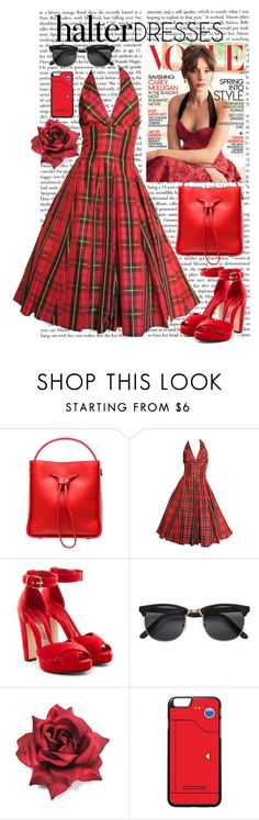 """""""#halterdress"""" by paula-parker ❤ liked on Polyvore featuring 3.1 Phillip Lim, Moschino, Alexander McQueen and halterdresses"""