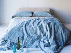 Draps bleu mediterrannee Bella Notte Linens
