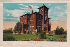Academy of Mary Immaculate from Wichita Falls, Texas, postcard booklet.