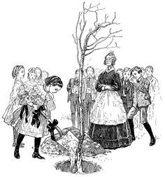 """Arbor Day had it start, post - Civil War, c.1875 during America's Gilded Age era. ~ """"600 million plants were planted on the bare prairie by children, churches and Temperance groups"""". April 22nd, then became the official Arbor Day. (source: """"Fabulous Century"""") ~~ {cwl}"""