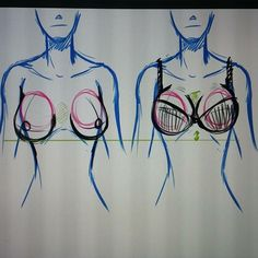 How to draw female boobs w