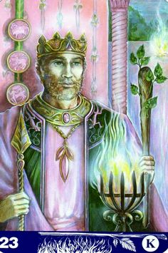 Le roi de bâtons - New Aura Soma Tarot