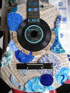 "WIP ""Playing the Blues"" guitar by green arrrt (Jill), via Flickr"