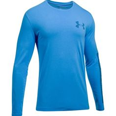 Under Armour Men's Charged Cotton Long-Sleeve T-Shirt ($30) ❤ liked on Polyvore featuring men's fashion, men's clothing, men's shirts, men's t-shirts, water blue, mens longsleeve shirts, mens blue shirt, mens stretch shirts, mens long sleeve shirts and under armour mens shirts